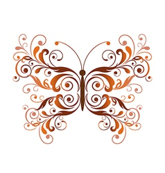 Floral butterfly design element vector image vector image