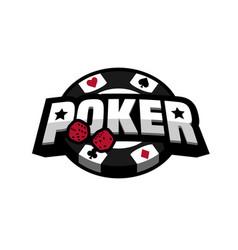 poker game logo emblem vector image