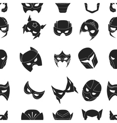 Superhero mask pattern icons in black style big vector