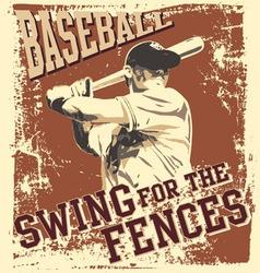 swing baseball vector image vector image