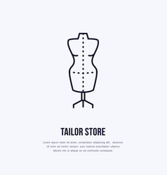 tailor dummy mannequin dress vector image vector image