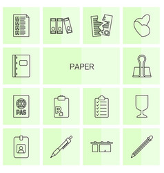 14 paper icons vector