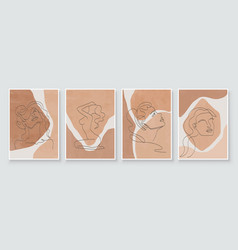Abstract composition art with woman beauty face vector