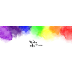 abstract rainbow watercolor for background vector image