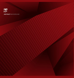abstract red geometric shapes background and vector image