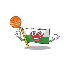 An icon flag wales scroll cartoon character vector