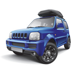 asian off road mini suv with robag vector image