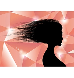 Beautiful womans hair vector image