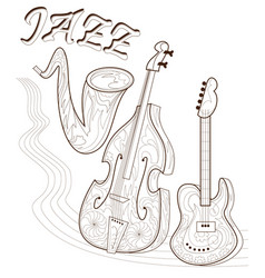 black and white page for coloring set musical vector image