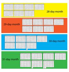 Black lines calendar vector