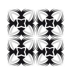 blackrose tile pattern vector image
