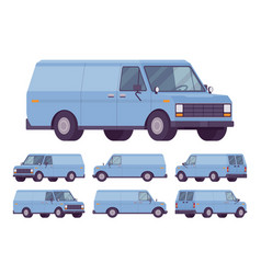 blue van set vector image