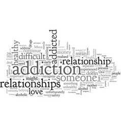 Boundaries and addictions vector