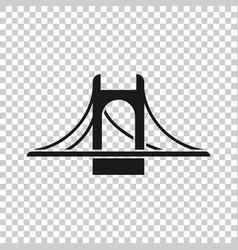 Bridge sign icon in transparent style drawbridge vector