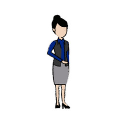 Businesswoman standing staff office people vector