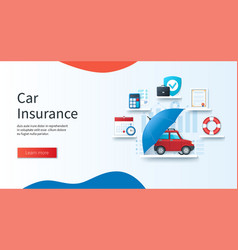 Car insurance concept schedule calculation vector