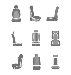 Car Seat icons 06 A vector
