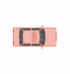 Car template top view vector