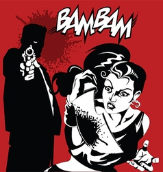 Cartoon mafia vector image