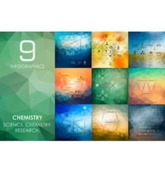 Chemistry infographic with unfocused background vector
