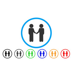 children handshake rounded icon vector image