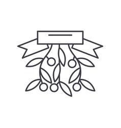 christmas branch line icon concept christmas vector image