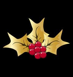 christmas mistletoe icon symbol design christmas vector image