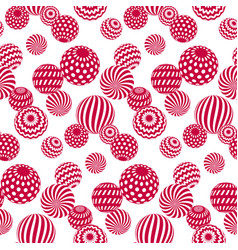 Circle red beads on white background creative vector