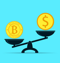 crypto currency outweighs money bitcoin and vector image