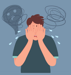 Depressive state a person fear stress vector