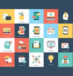 Digital marketing flat pack vector