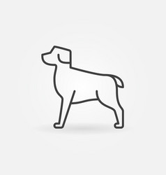 Dog modern icon vector