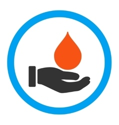 Donate Blood Rounded Icon vector image