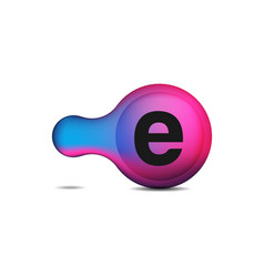 dots letter e logo e letter design with dots vector image