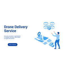 drone delivery lp template 2 vector image