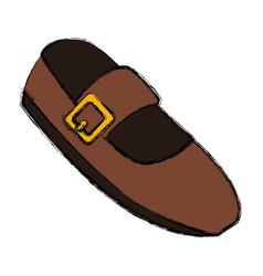 Fashion ballet shoe vector