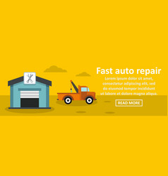 fast auto repair banner horizontal concept vector image