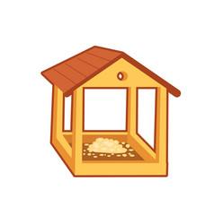 Feeding house for birds vector