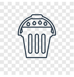 Fertilizer concept linear icon isolated on vector