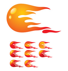 fireball vector image