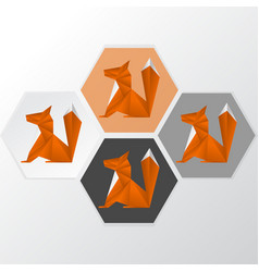 fox logotype vector image