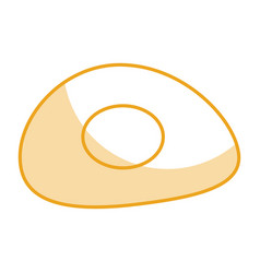 fried egg isolated icon vector image