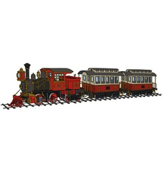 Funny american steam train vector image