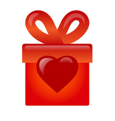 Gift with love icon vector