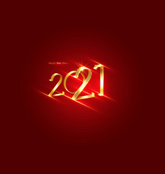 Golden 2021 new year 3d logo with copy space vector