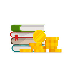 Graduation knowledge cost or expensive education vector