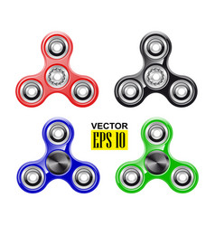 Hand spinner fashionable toy stress reduction vector