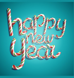 happy new year 3d number sign in christmas vector image