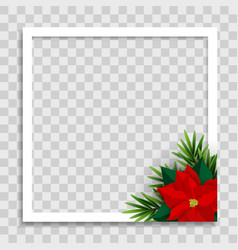 holiday photo frame template merry christmas vector image