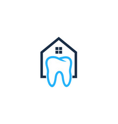 house dental logo icon design vector image